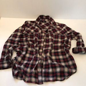 BDG Flannel Button down shirt Small petite